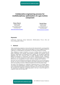 Collaborative engineering process for multidisciplinary optimization of a gas turbine component
