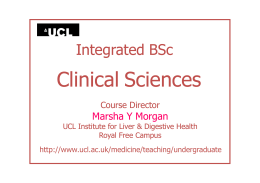 Clinical Sciences Integrated BSc Marsha Y Morgan Course Director