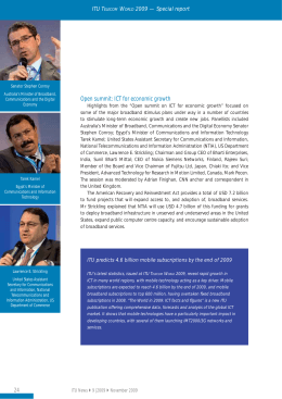 Open summit: ICT for economic growth ITU T W 2009 — Special report
