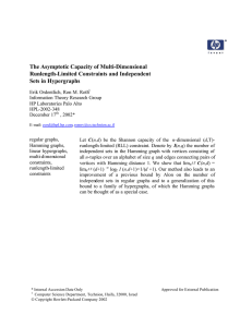 The Asymptotic Capacity of Multi-Dimensional Runlength-Limited Constraints and Independent Sets in Hypergraphs