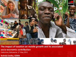 The impact of taxation on mobile growth and its associated