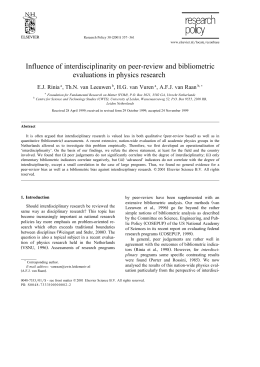 Influence of interdisciplinarity on peer-review and bibliometric evaluations in physics research