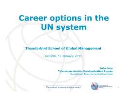 Career options in the UN system