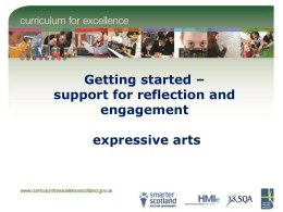 Getting started – support for reflection and engagement expressive arts