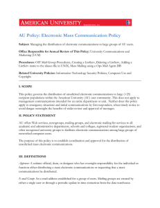 AU Policy: Electronic Mass Communication Policy