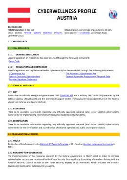 CYBERWELLNESS PROFILE AUSTRIA