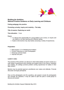 Building the Ambition: National Practice Guidance on Early Learning and Childcare