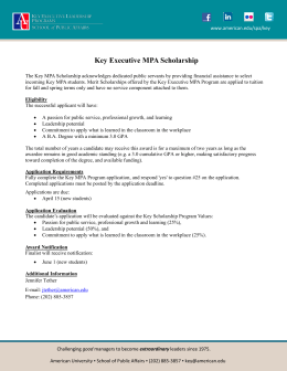 Key Executive MPA Scholarship