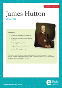 James  Hutton 1726-1797 Famous for: