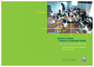 Connect a School, Connect a Community Toolkit Disseminating Low-Cost Computing Devices in Schools