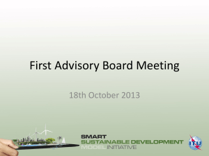 First Advisory Board Meeting 18th October 2013