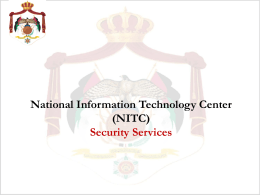 National Information Technology Center (NITC) Security Services