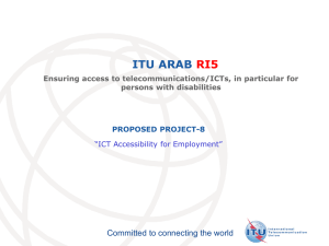ITU ARAB RI5 Committed to connecting the world PROPOSED PROJECT-8