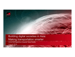 Building digital societies in Asia: Making transportation smarter August 2015