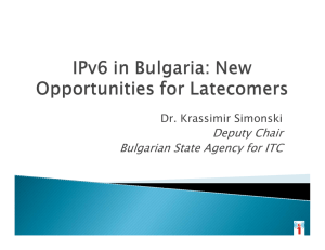 Deputy Chair Bulgarian State Agency for ITC Dr. Krassimir Simonski 1