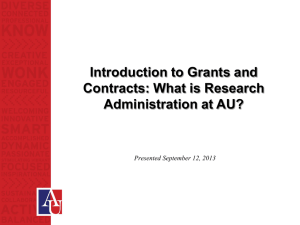 Introduction to Grants and Contracts: What is Research Administration at AU?