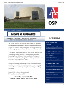 OSP NEWS & UPDATES IN THIS ISSUE
