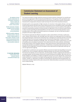 Commission Statement on Assessment of Student Learning