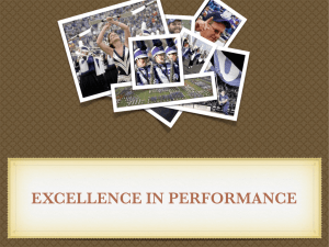 EXCELLENCE IN PERFORMANCE