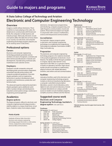 Guide to majors and programs Electronic and Computer Engineering Technology Overview