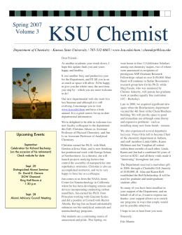 KSU Chemist Spring 2007 Volume 3