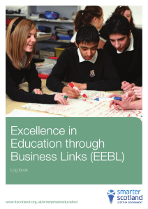 Excellence in Education through Business Links (EEBL) Log book