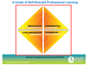 A model of Self-Directed Professional Learning Transforming lives through learning