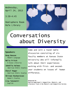 Conversations about Diversity Wednesday, April 24, 2013