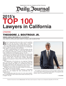 TOP 100 Lawyers in California