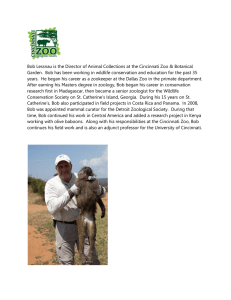 Bob Lessnau is the Director of Animal Collections at the... Garden.  Bob has been working in wildlife conservation and...