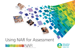 Using NAR for Assessment