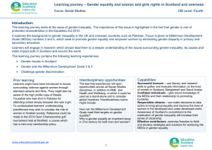 Learning journey – Gender equality and woman and girls rights... Introduction:
