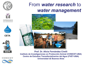 water research water management Prof. Dr. Alicia Fernández Cirelli CETA