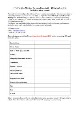 Sample j1 scholar invitation letter itu fg ava meeting toronto canada 25 27 september stopboris Choice Image