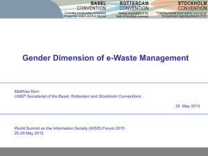 Gender Dimension of e-Waste Management Matthias Kern 25  May 2015