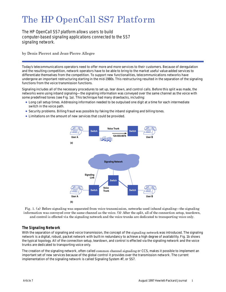 The HP OpenCall SS7 Platform