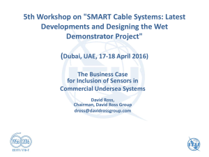 "5th Workshop on ""SMART Cable Systems: Latest Demonstrator Project"""