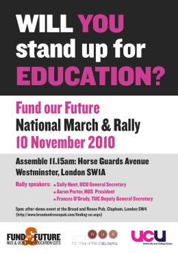 stand up for EDUCATION? WILL YOU