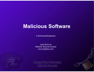 Malicious Software A Technical B Breakdown