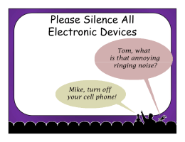 Please Silence All Electronic Devices