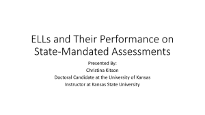 ELLs and Their Performance on State-Mandated Assessments
