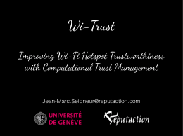 Wi-Trust
