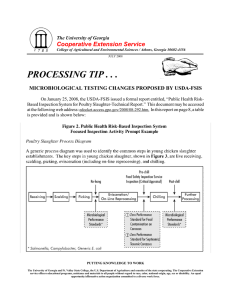 PROCESSING TIP . . . Cooperative Extension Service The University of Georgia