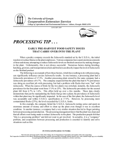 PROCESSING TIP . . . Cooperative Extension Service