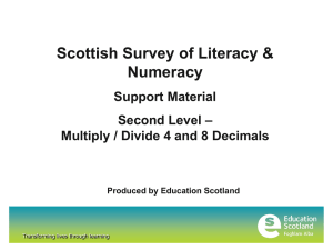 Scottish Survey of Literacy & Numeracy Support Material –