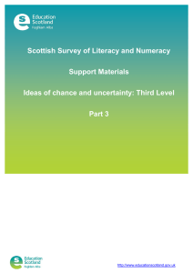 Scottish Survey of Literacy and Numeracy Support Materials