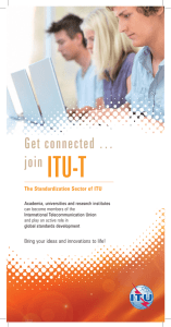 ITU-T Get connected … join