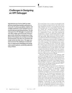 Challenges in Designing an HPF Debugger