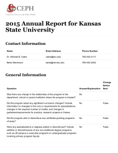 2015 Annual Report for Kansas State University Contact Information