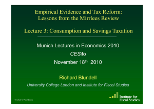 Empirical Evidence and Tax Reform: Lessons from the Mirrlees Re ie